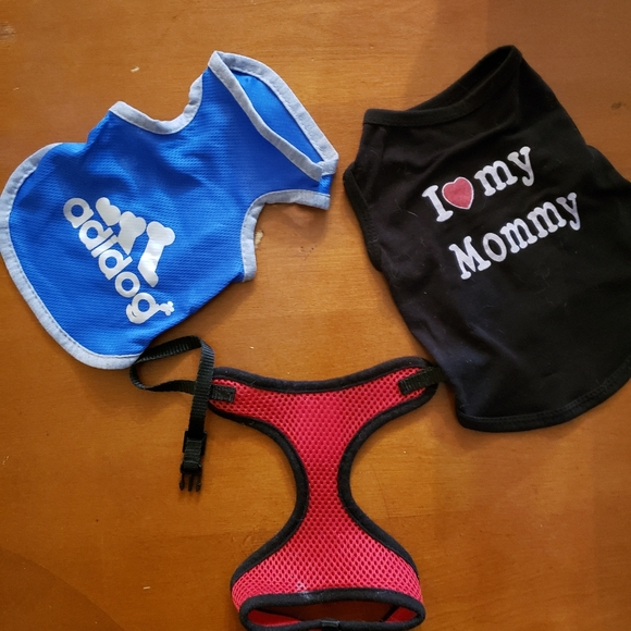 Other - 2 puppy shirts and one over the head harness